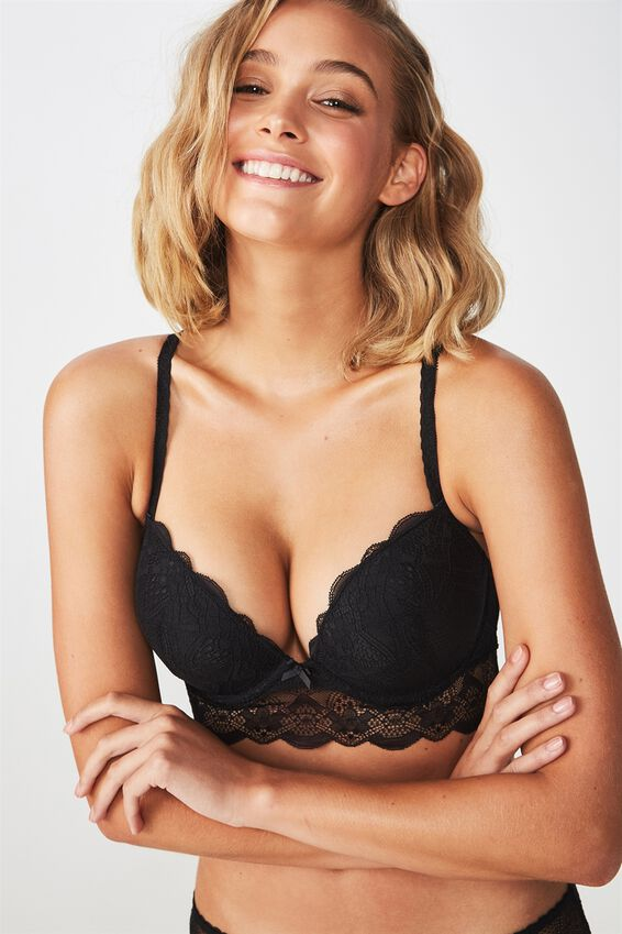 Cindy Body Push Up 2 Bra, BLACK