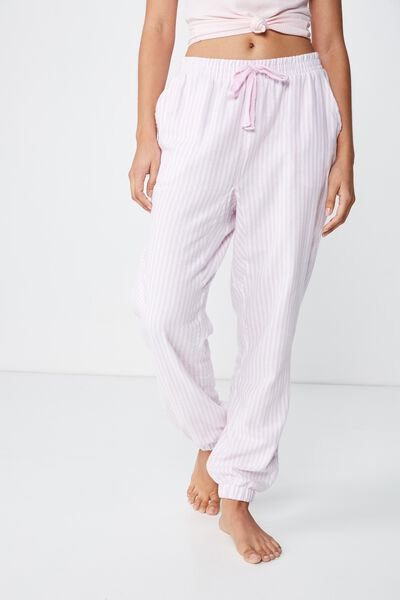 Dropped Flannel Pant, MOONLIGHT LILAC/VANILLA STRIPE
