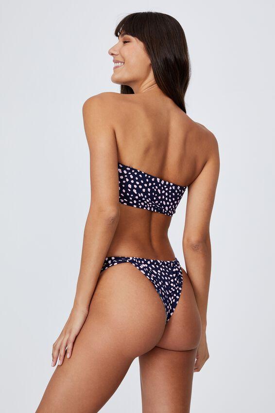 Midi Bandeau Bikini Top, ORGANIC DOT