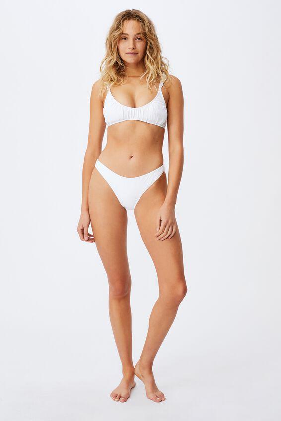 Full Bikini Bottom Jacquard, WHITE PETALS JACQUARD
