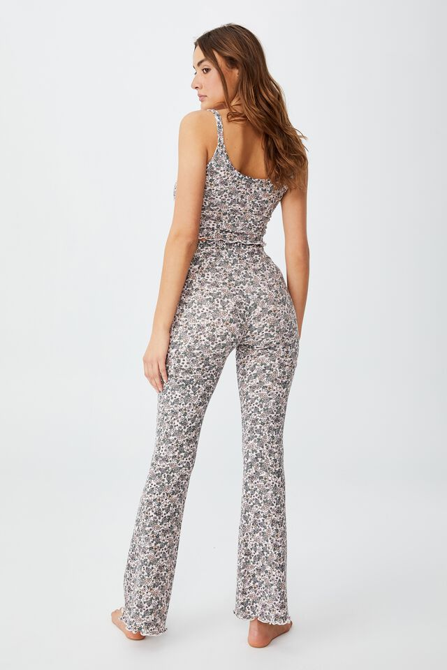 Bed Time Waffle Pant, GRANDMA GARDEN DITZY SOFT SHELL