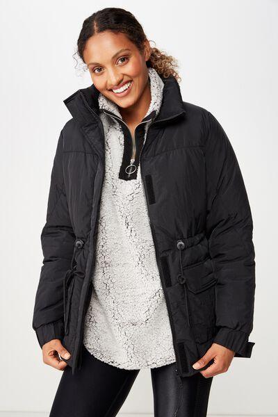 Mountain Puffer Jacket, BLACK