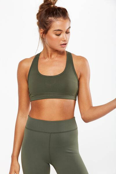 Workout Cardio Crop, KHAKI