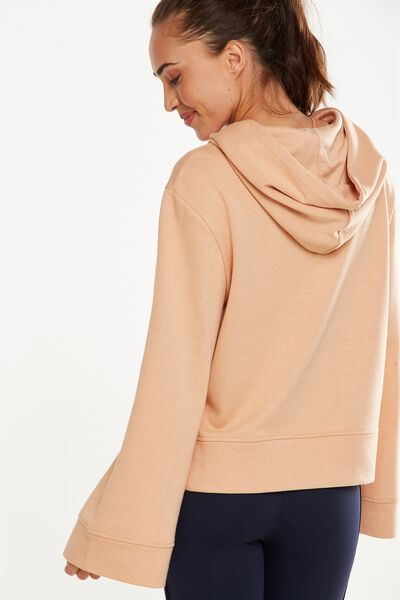 Bell Long Sleeve Top, ALMOND