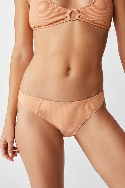 Classic Full Bikini Bottom, PALE APRICOT RIB