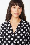 Flannel Sleep Shirt, POLKA