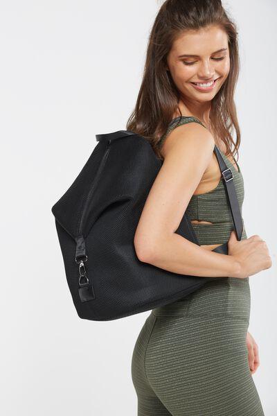 It Girl Backpack, BLACK MESH