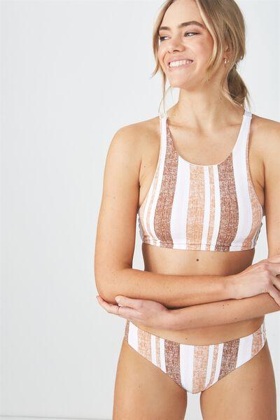 Airlie Crop Bikini Top, MAPLE DECK CHAIR STRIPE