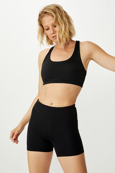 Highwaisted Shortie Short, BLACK