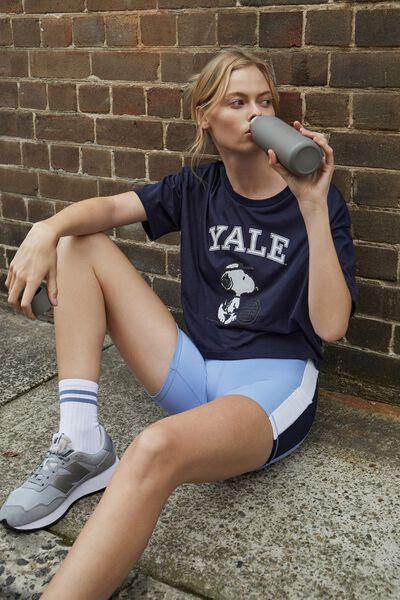 Relaxed Active Graphic T-Shirt, NAVY/YALE SNOOPY TENNIS