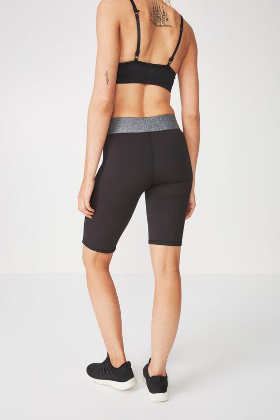 Active Mid Gym Short, BLACK / SALT & PEPPER