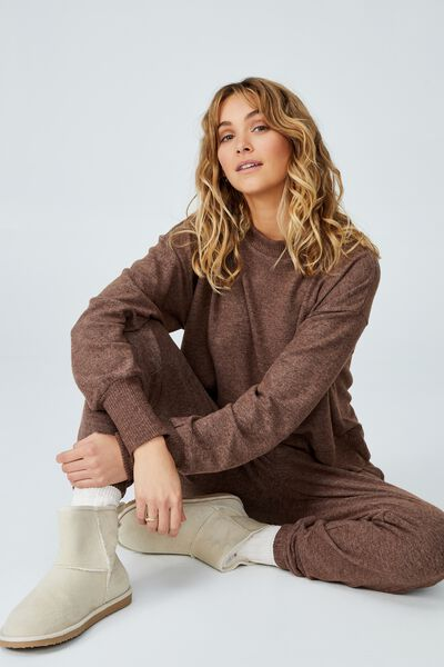 Super Soft Long Sleeve Crew, FRENCH TOAST MARLE