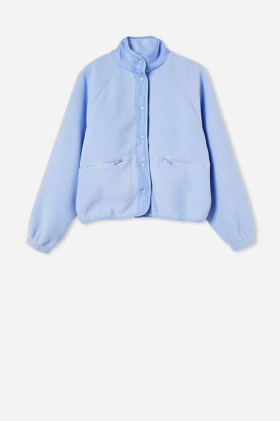 Warm Up Sherpa Jacket, CORNFLOWER LILAC