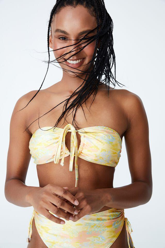 Floss Bikini Top, HAWAIIAN YELLOW SHIMMER