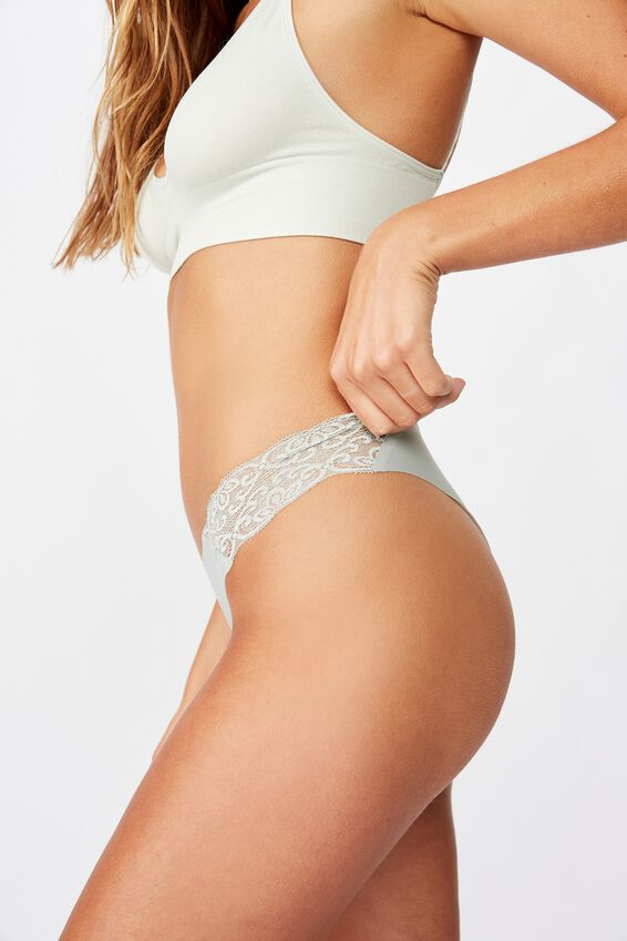Party Pants Seamless Brasiliano Brief, ALOE WASHED