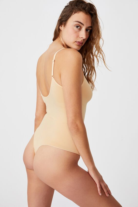 Go Figure Smooth Bodysuit, FRAPPE