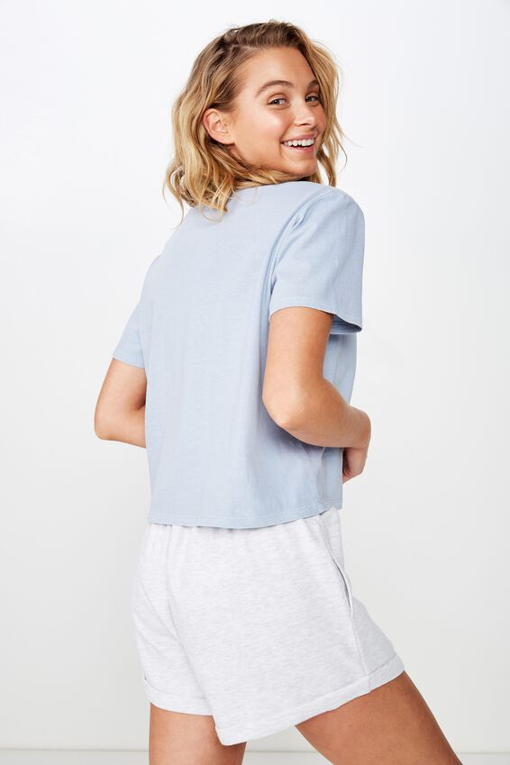 Active Placement Print Tshirt, BABY BLUE