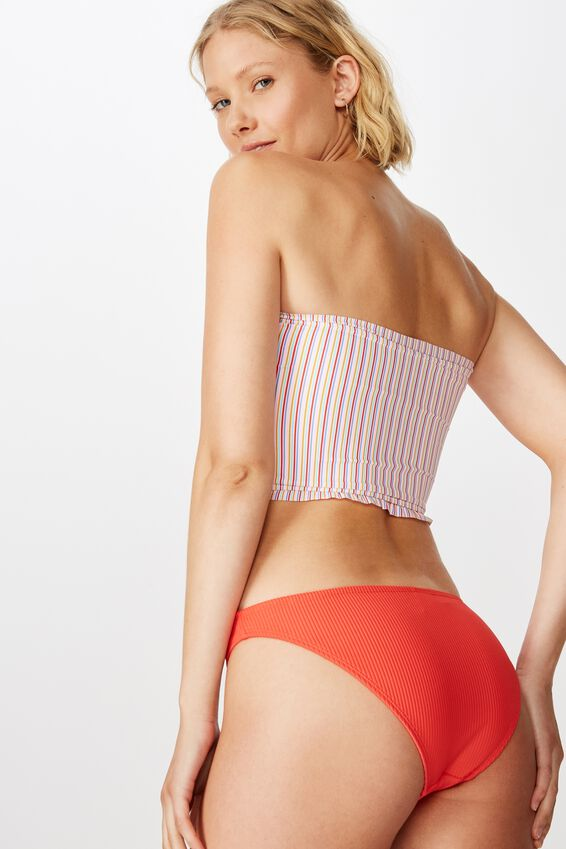 Classic Full Bikini Bottom, SPICY RED RIB