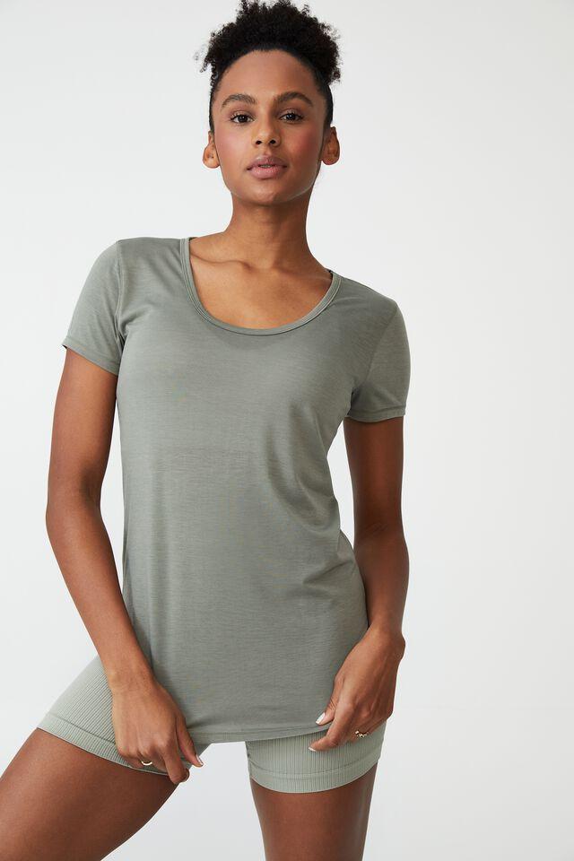 Gym T Shirt, GREEN HAZE