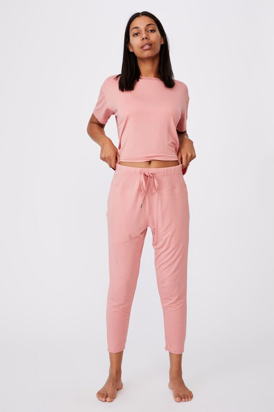 Sleep Recovery Pant, PINK ALMOND