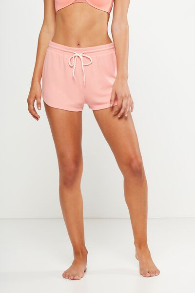 Super Soft Lounge Short, CORAL GLOW MARLE