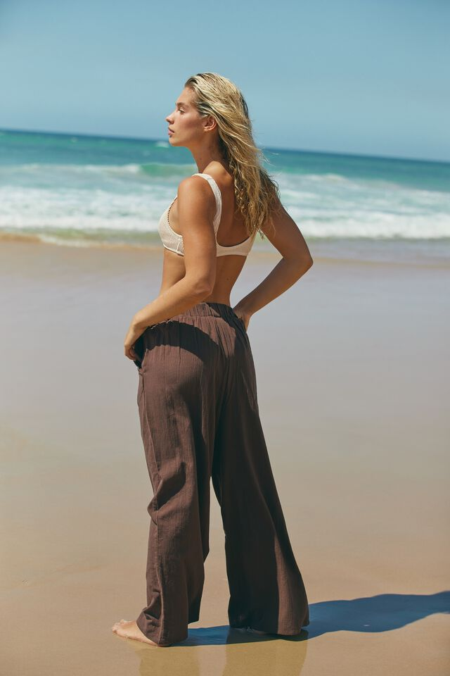 Relaxed Beach Pant, CHOCOLATE