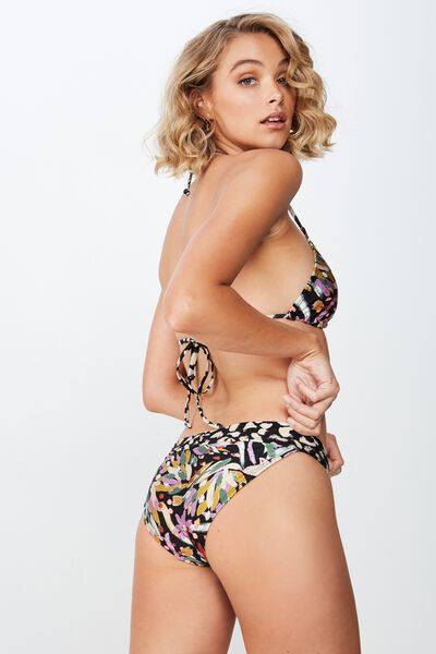 Belle Spliced Full  Bikini Bottom, BRUSHED FLORAL