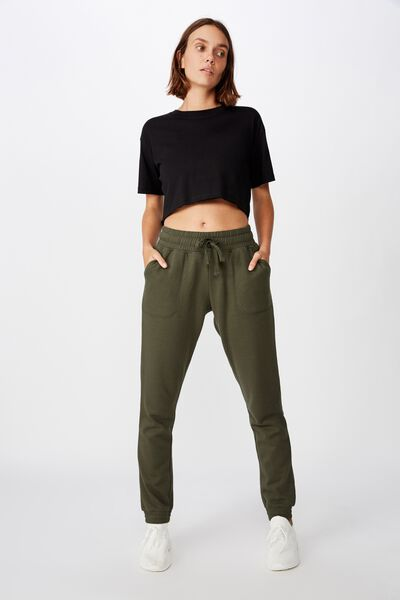 Gym Track Pants, KHAKI