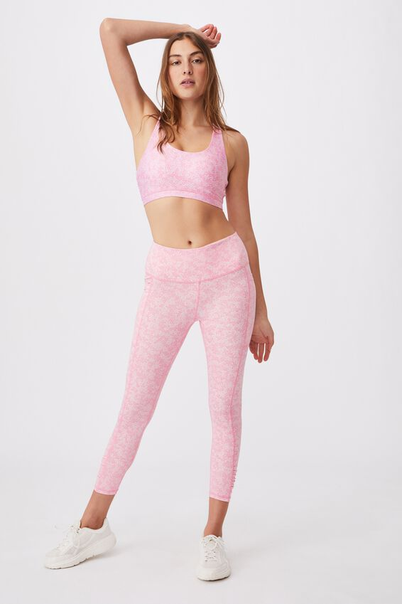 Strappy Sports Crop, DAISY FIELDS TONAL PINKS