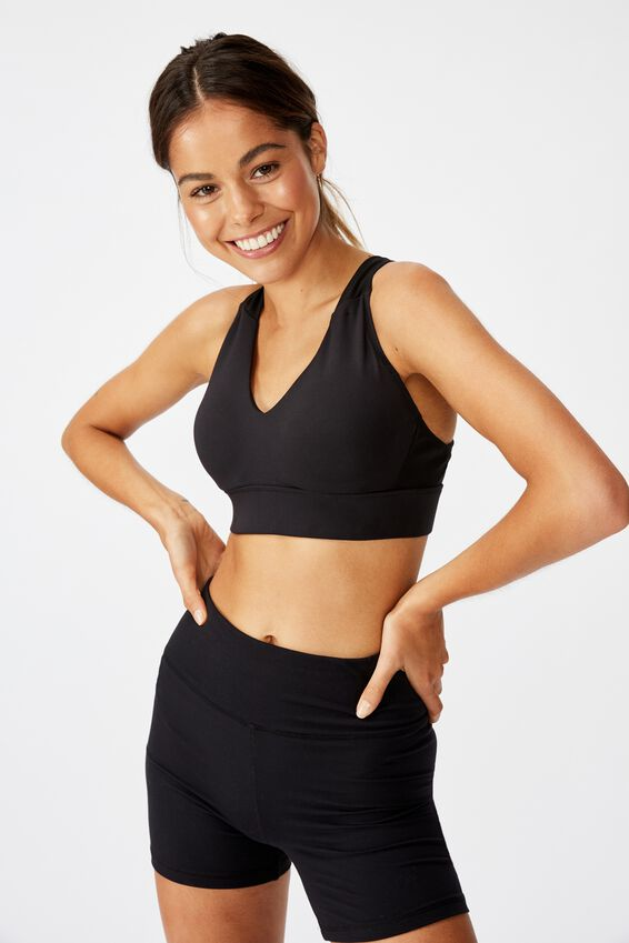 Workout Training Crop, BLACK