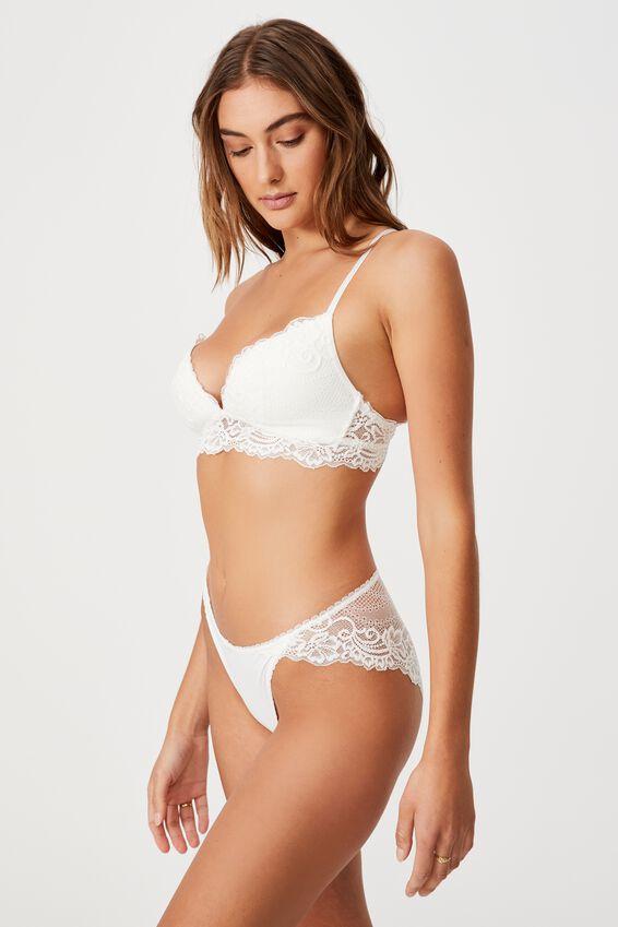 Ainsley Lace Bikini Brief, CREAM