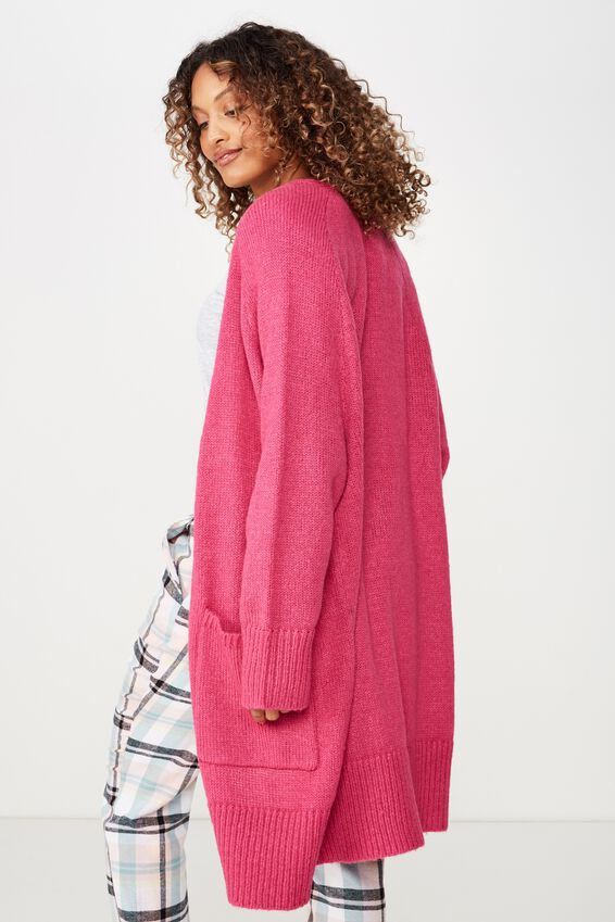 Boyfriend Cardigan, RASPBERRY CRUSH