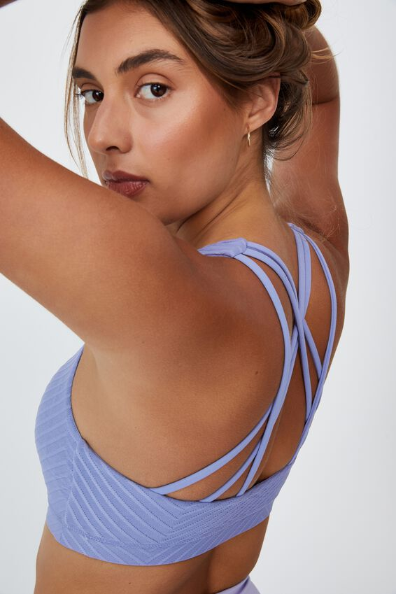 Strappy Sports Crop, PERIWINKLE TEXTURE