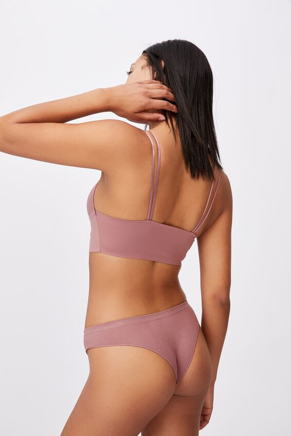 Everyday Bonded Longline Bralette With Cups, DUSTY ROSE