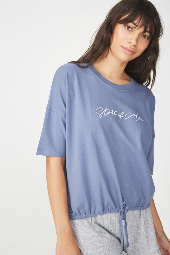 Jersey Tie T Shirt, STORM BLUE/STATE