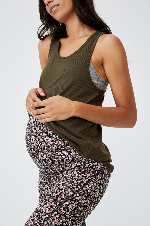Maternity Winter Fleece Lined Tight, PATCHWORK