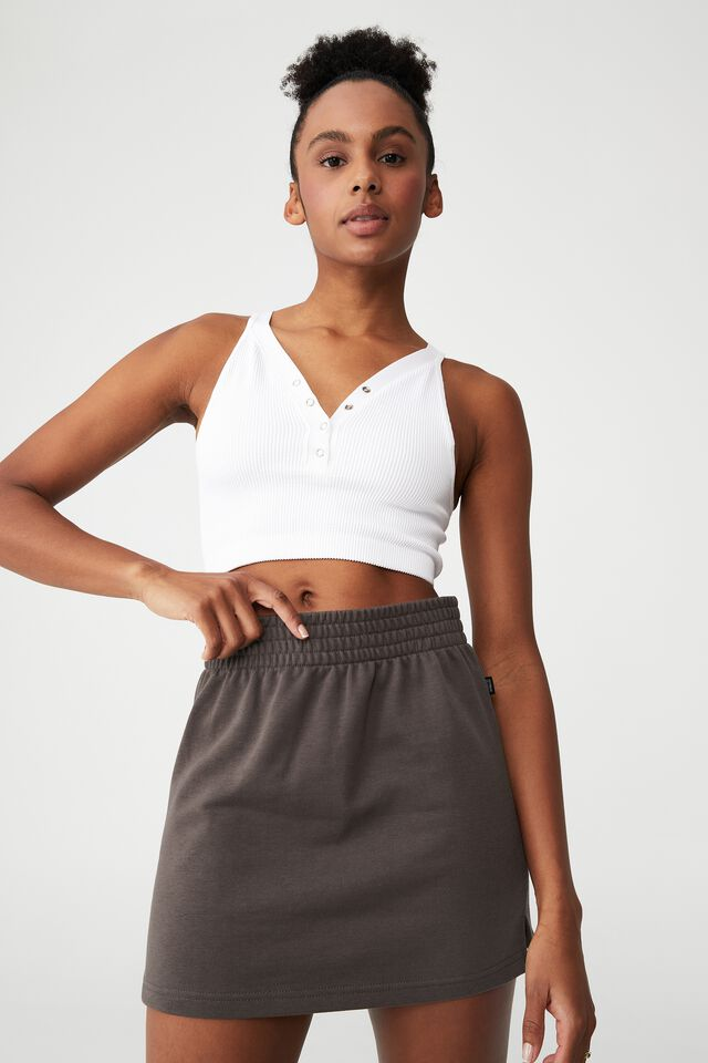 Lifestyle Fleece Skirt, BROWNIE