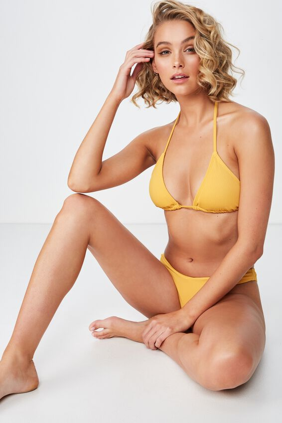 Classic Slider Triangle Bikini Top, MARIGOLD