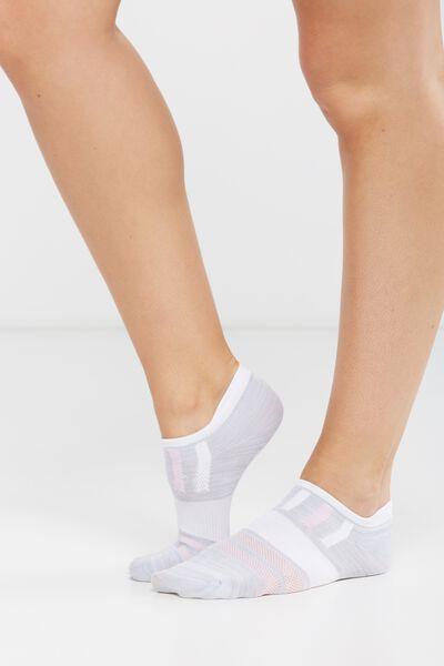 Active Tab Sock, GREY MARLE/WHITE/LILAC DREAM