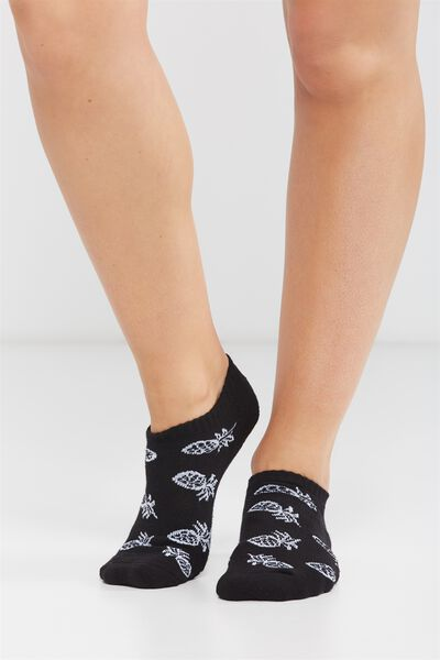 Active Basic Sock, MONOCHROME PINEAPPLE