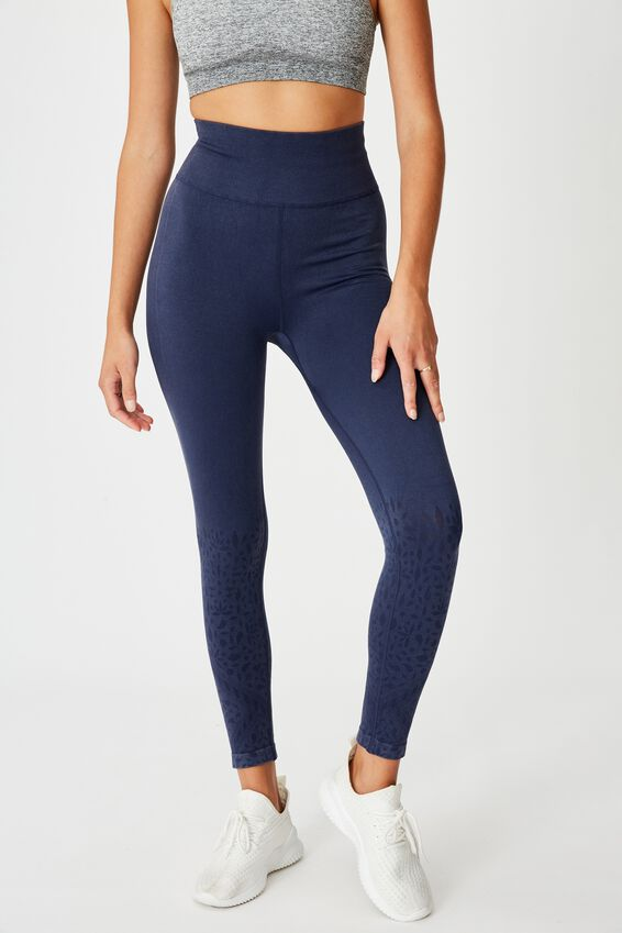 Crochet Seamless 7/8 Tight, WASHED NAVY