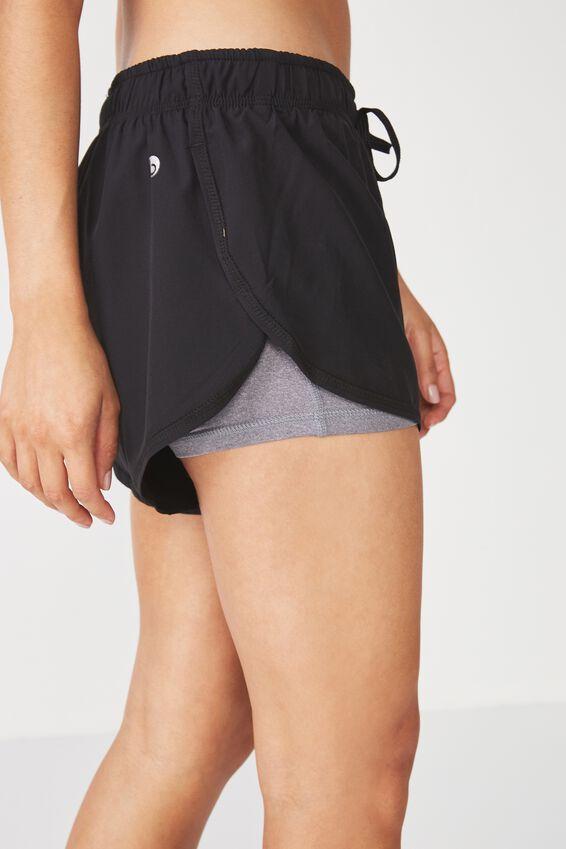 Move Jogger Short, BLACK/MID GREY MARLE