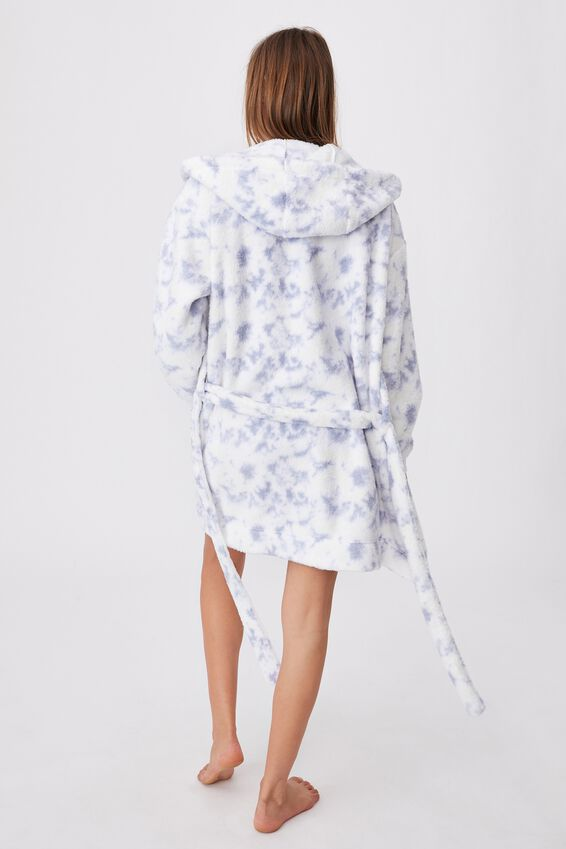 The Lounging Robe, BALTIC BLUE TIE DYE