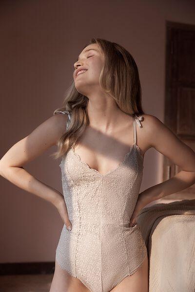 Jojo Lace Bodysuit, BAKED STONE