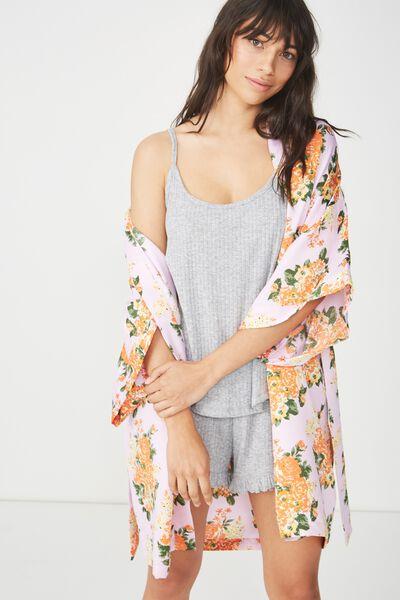 Kimono Gown, SUPER BLOOM/LILAC