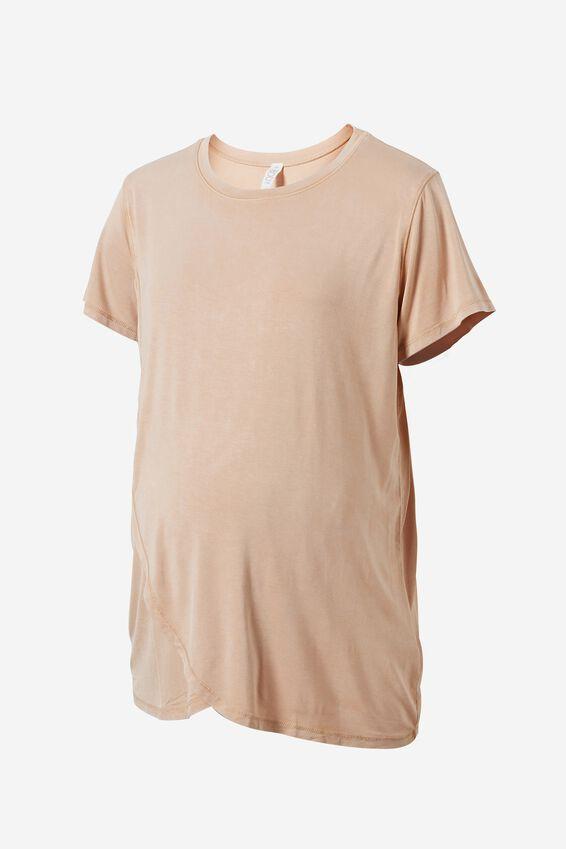 Sleep Recovery Maternity T Shirt, BUTTERSCOTCH WASH