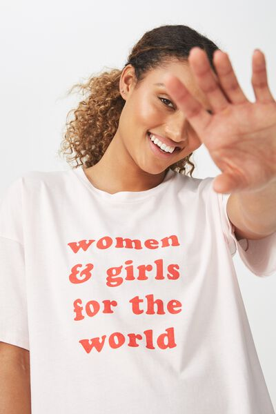 Women Empowerment T Shirt, PINK SHERBET / IWD