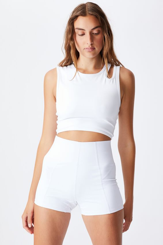 Ultimate Cut Out Vestlette, WHITE
