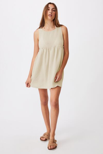 Drop Armhole Beach Dress, NATURAL