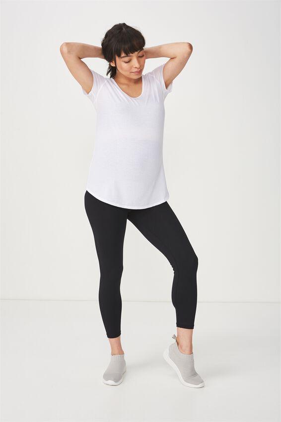 Maternity Gym T Shirt, WHITE